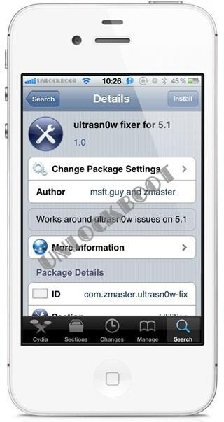 Unlock IOS 5.1 With Ultrasn0w Fixer