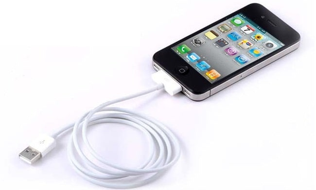 how to connect pc internet to iphone via usb cable