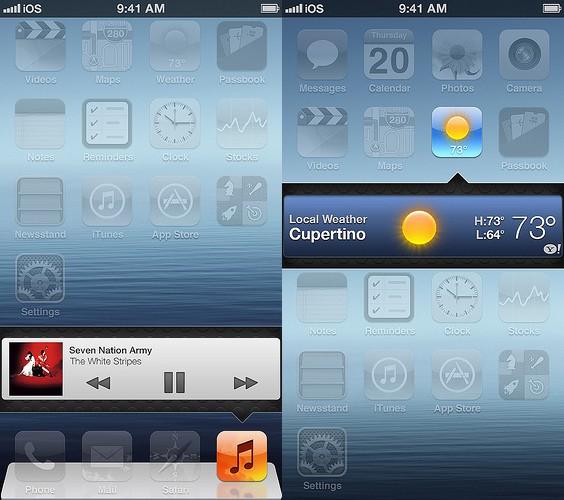 Apple iOS 7 Concept Features Superior Lockscreen, Widgets ...