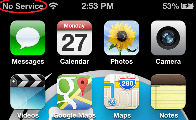 why is my iphone saying no service fix no service on iphone 4s 5 4 amp 3gs after factory 20628