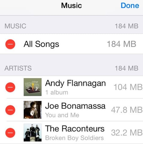 how to delete music off iphone
