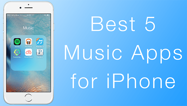 best iphone music apps top 5 apps for iphone to in 2017 13624