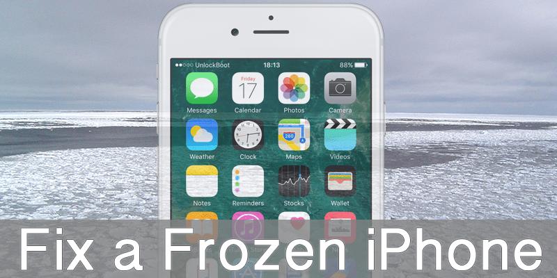 Unlock Frozen Iphone