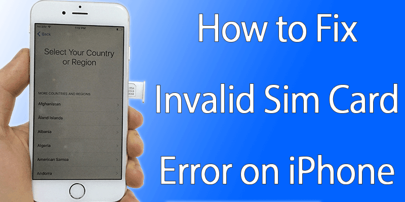 iphone says invalid sim how to fix invalid sim card error on iphone unlockboot 15416