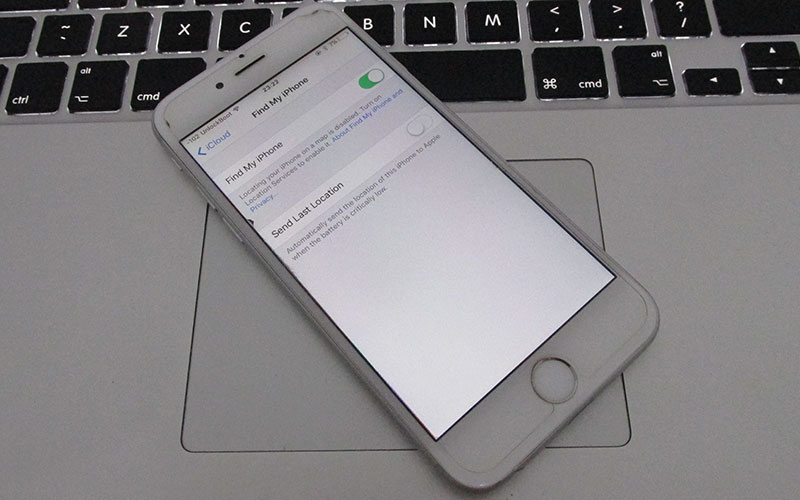 how to activate find my iphone on ipad