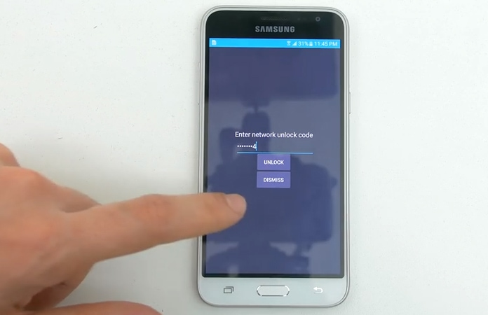 galaxy a5 unlock code
